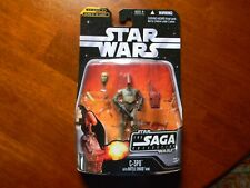 2006 Star Wars Saga Collection Attack of the Clones C-3PO with Battle Droid Head