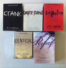 Lot 5 ELLEN HOPKINS Books (PB) Crank, Burned, Impulse, Identical, Perfect
