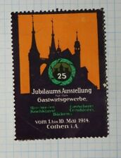Jubilee Exhibition Hospitality Industry 1914 Cothen De Expo Poster Stamp Ads