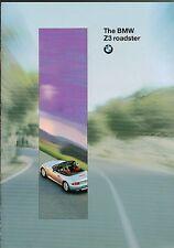 1996?1997 BMW Z3 ROADSTER Brochure with Color Chart: Z-3 Bond 007 GoldenEye,