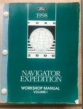 1998 Ford Expedition Lincoln Navigator Service Shop Manual Volume 1 Engine Trans