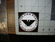 white & black United Farm Workers sticker Si Se Puede sticker UFW sticker Huelga