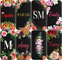 Personalised Floral Custom Name Text Case Monogram Wallet Phone Case for iPhone