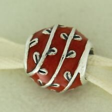 Authentic Pandora 790525EN17 Vines Red Enamel Sterling Silver Bead Charm
