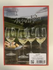 Riedel Auguri Set Of 4 Crystal White Wine Glasses Made In Germany NIB