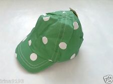 Next Baby Sun Hat Green Spotted Cap Size 6-12mths,1-2yrs