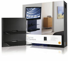 Omnimount 2 a/V de sistema de pared Estante de Vidrio Templado (Audio Video Cielo Bluray + Dvd)