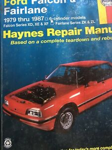 FORD FALCON FAIRLANE 1979 1987 XD XE XF HAYNES WORKSHOP MANUAL