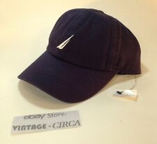 *NEW* NAUTICA Hat Cap 100% Cotton, 6 Panel,  NAVY BLUE WHITE, OSFA, RN 67835