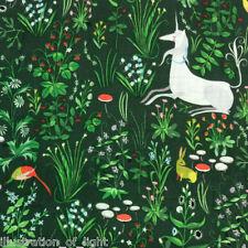AN54 Unicorn Forest Woods Mushroom Dog Lizzy House Double Gauze Cotton Fabric