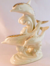 1996 Lenox China Jewels Frolicking Dolphins Figurine Statue, A+ Condition