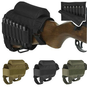 Tactical Crown Cheek Rest Carrier Carrying Case Ammunition For .300 .308 Bullet