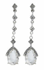 Cubic Zirconia Stone Chandelier Costume Earrings