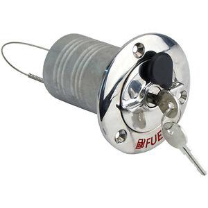"""Lockable Hose Deck Filler for Fuel 2"""" (50mm)  Boat Filler 316 Gr Stainless"""