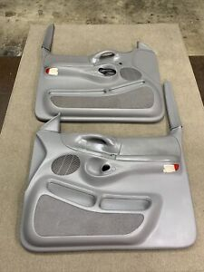 1997-1998 Ford  F-150 Pair Of Power Door Panels Gray / Grey OEM