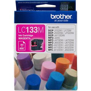 GENUINE Brother LC133 MAGENTA Ink J4110DW J4410DW J4510DW J4710DW LC133M