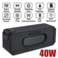 40W Portable Wireless bluetooth Speaker 6600mAh Waterproof Bass Stereo  / 。