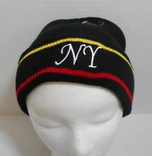 NY New York Winter Hat Cap Head Warmer Embroidered Skate Ski Snow Taboggin Black
