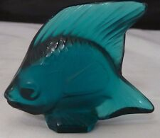 c1912 R Lalique ORIGINAL Poisson Fish Cachet Letter Seal No 182 teal BLUE  Rene