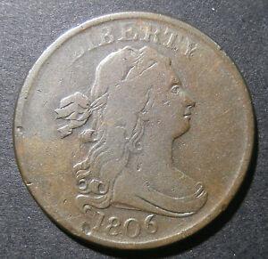 USA - Half Cent 1806 - small high 6 & stemless wreath - Breen#1550