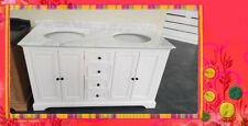 French Provincial Bathroom Vanity Gaston1500 White Marble or Granite Top SPECIAL