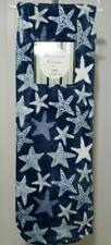 Starfish Nautical Throw Blanket Blue White 50x70 Soft Fleece Thro Olivias Room