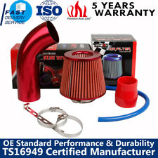 "Car Air Intake Kit Pipe Diameter 3""+Cold Air Intake Filter+Clamp+Accessories Red"