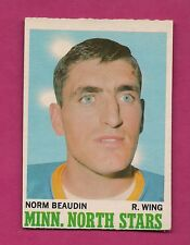 1970-71 OPC  # 48 NORTH STARS NORM BEAUDIN ROOKIE EX-MT CARD (INV#5191)