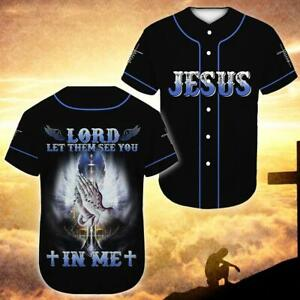 Lord Please Let Them See You In Me Shirt For Christians Baseball Jersey
