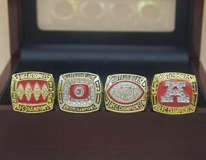 4 Pcs 1990 1991 1992 1993 Buffalo Bills Championship Ring ---