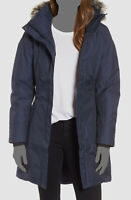 $330 The North Face Women's Blue Parka Down Waterproof Hooded Logo Coat Jacket M