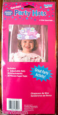 TEA PARTY PACK OF 4 PAPER PARTY HATS W/DECORATIONS TO PUT ON THE HAT-PARTY CRAFT