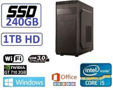 OFERTA REYES Ordenador Sobremesa i5 240SSD+1TB GT710 WINDOWS 10 + OFFICE