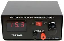 Used Tekpower TP1502 DC Power Supply for Tattoo 1.5 - 15V 2 amp