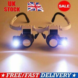 8/15/23x Magnifier Magnifying Glasses LED Light Jeweler Watch Repair Headband JK