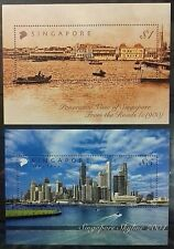 SINGAPORE 2004 SKYLINES SG MS1404 ($1 & $5 MS) MNH OG (SET II)