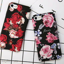 Shockproof Ultra Thin Floral Pattern Hard Back Case Cover For iPhone 7 6 6s Plus
