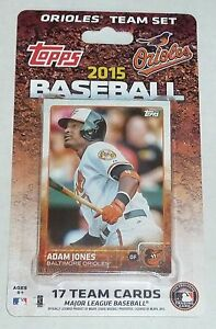 Baltimore Orioles 2015 Topps Factory Sealed Team Set Manny Machado Jones Davis