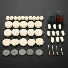 Wool Felf Polishing Buffing Burr Wheel Kit For Home Rotary Tools w/ Paste 46X