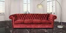 Chesterfield Couch Polster Sofas klassischer Textil Schaffhau 4 Sitzer - 217