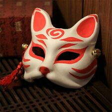 Japanese Traditional Fox Kitsune Omen Mask Handmade Cosplay Party Costume Toy