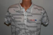 "Mens Fly 53 Polo Shirt ""Lights Out""  Top Tee New with Tags  - White- M"