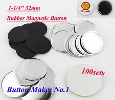 "100sets Freezer Sticker1-1/4"" 32mm Rubber Magnetic Badge Button Make Hot sale!"