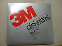 """2 PACK RETAIL PACKAGED NOS New In Package 3M floppy Diskettes 5.25"""" SS DD RH"""
