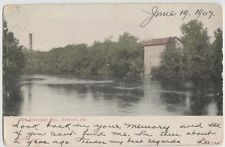 1907 ELKHART Indiana Ind Postcard OLD BEARDSLEY MILL County