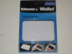 Clever Hard Wallet - Plastic, Mirror 6 Organizing Card Slots Credit Card Storage