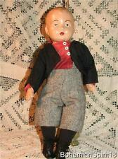 Antique Signed Horsman Pre 1930's Composition Double Jointed Restored Boy Doll