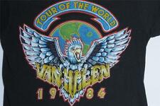 80s Vintage Van Halen Tour Of The World 1984 Concert Metal Rock Eagle T Shirt