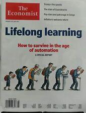 The Economist Jan 14-20 2017 Lifelong Learning Age  Automation FREE SHIPPING sb