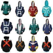 My Boku no Hero Academia Cosplay Hoodie Zip Coat Izuku Shoto Bakugo Sweatshirt 3